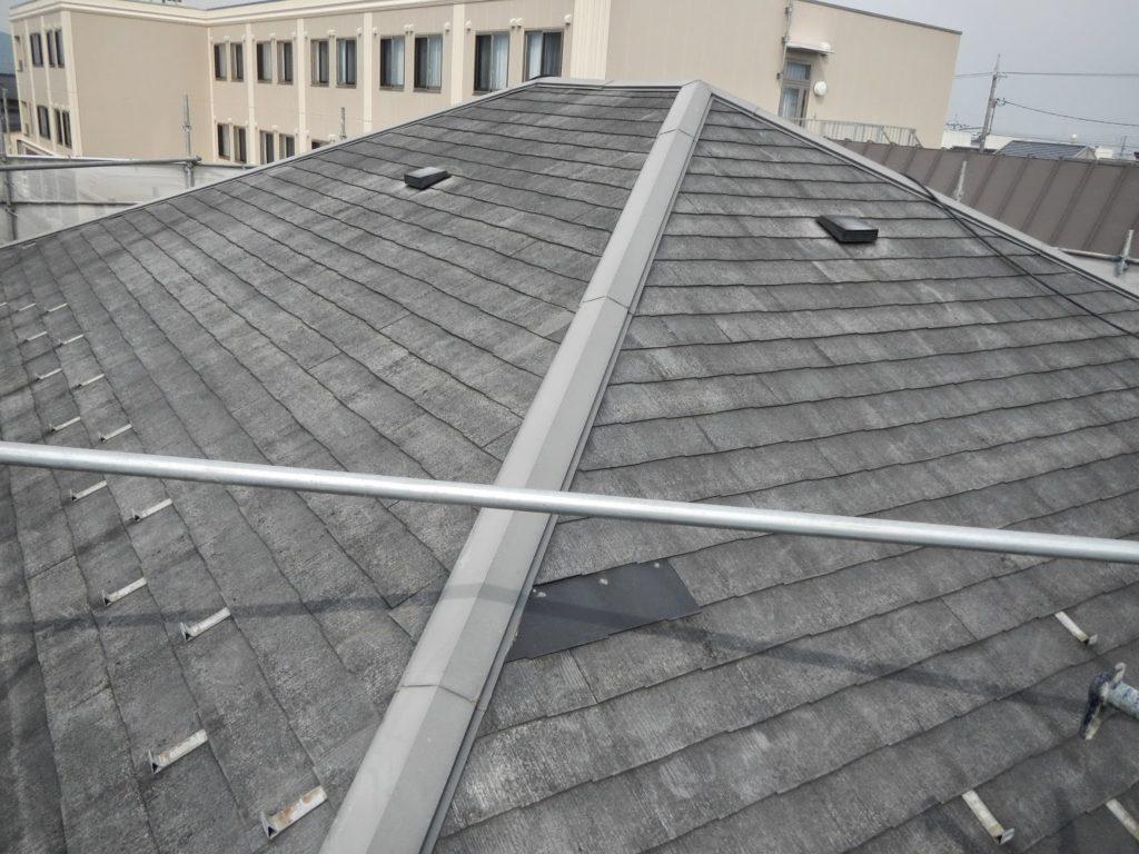 屋根もきれいにピッカピカ