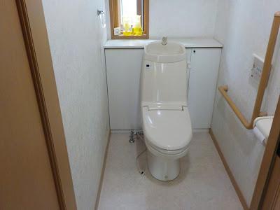O様邸トイレと洗面水栓交換の巻き!