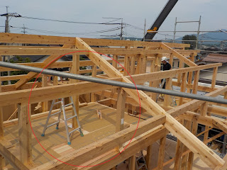新築工事・内部造作中です。