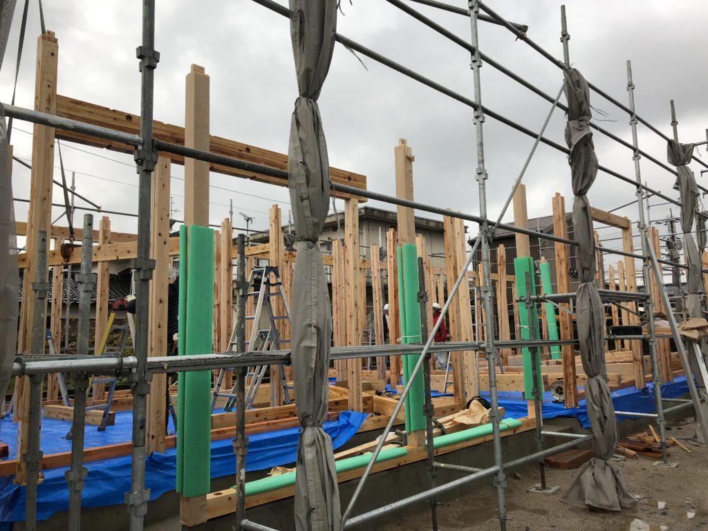 住宅新築工事の現場