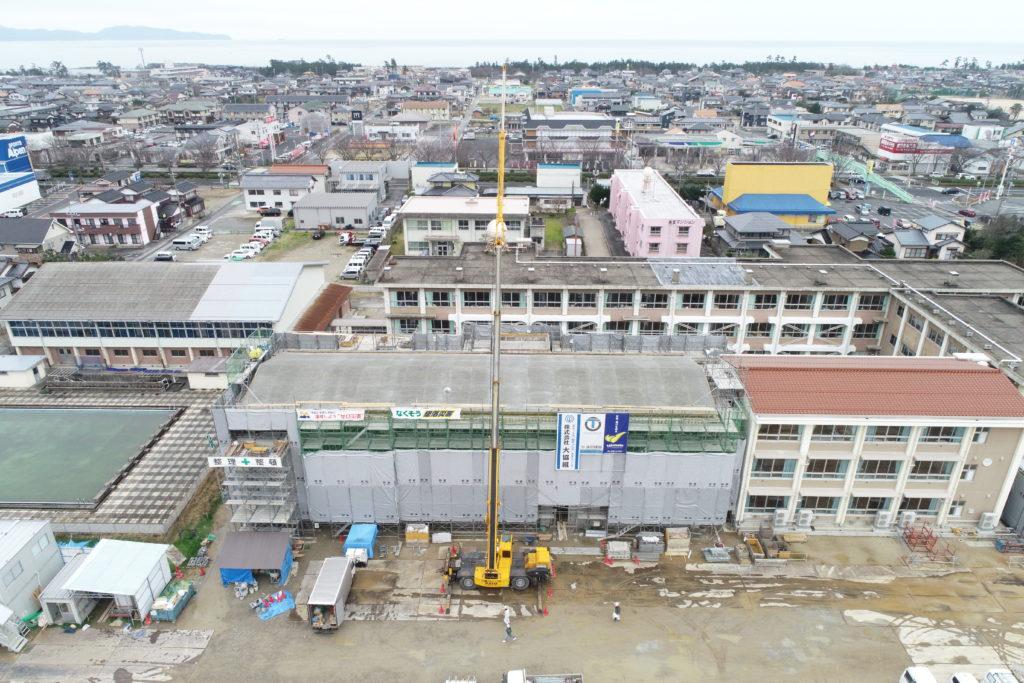 福米西小学校教室棟ほか増築建築主体工事